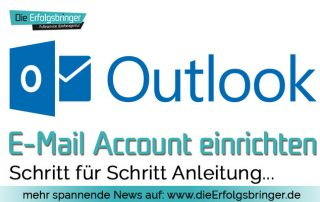Outlook E-Mail einrichten