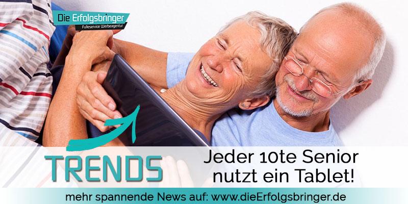 Senioren im Internet - Jeder 10te nutzt ein Tablet