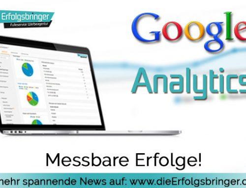 Google Analytics – Erfolg muss messbar sein