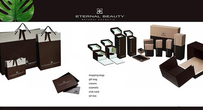 Werbemittel in Form von Verpackungen, Geschenkboxen und Tüten