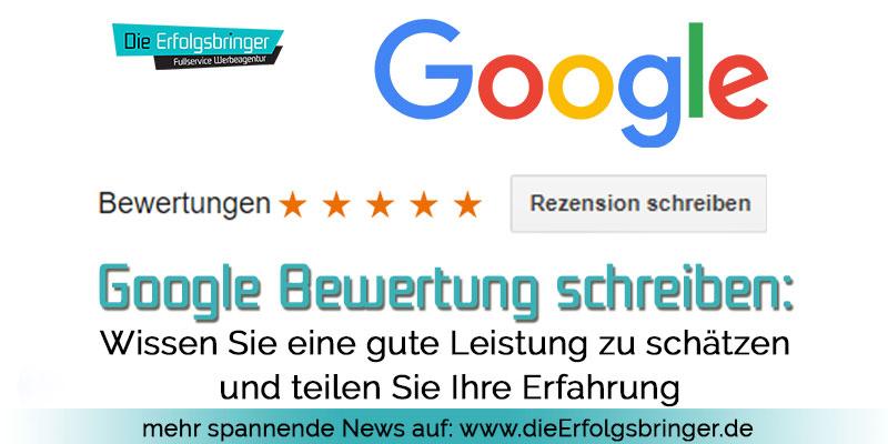 Anleitung Google Bewertung schreiben