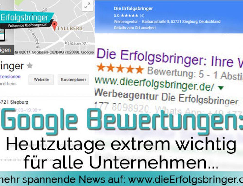 Warum sind Google Bewertungen so wichtig?