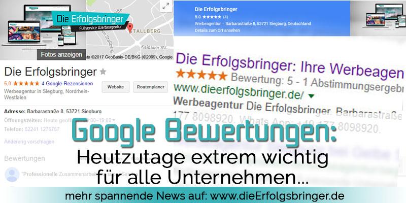 Google Bewertungen extrem wichtig für Unternehmen