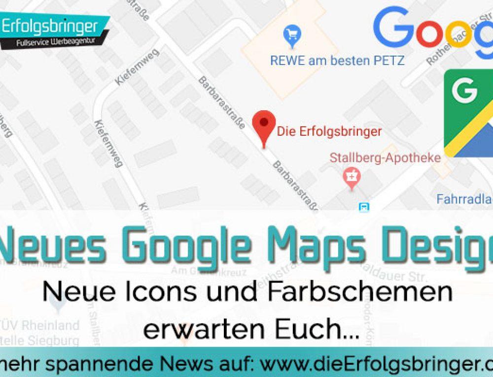 Neues Google Maps Design 2017