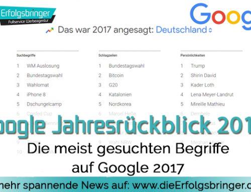 Google Jahresrückblick 2017
