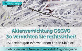 DSGVO Aktenvernichtung - Welchen Aktenvernichter brauchen Sie?
