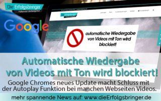 Automatische Wiedergabe von Videos mit Ton wird blockiert!