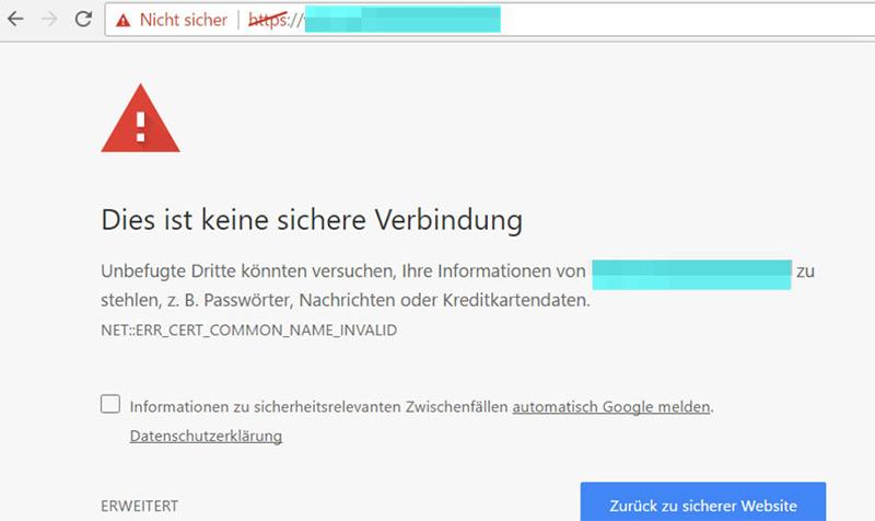 SSL wird Pflicht - So sehen die Kunden eine nicht verschlüsselte Webseite