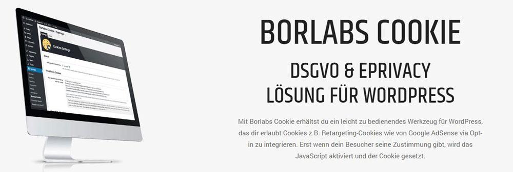 Borlabs Cookie WordPress Plugin Banner