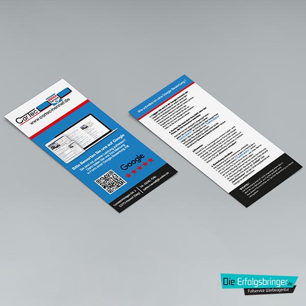 Google Bewertung-Produkte Hochwertige Variante Cartec Flyer