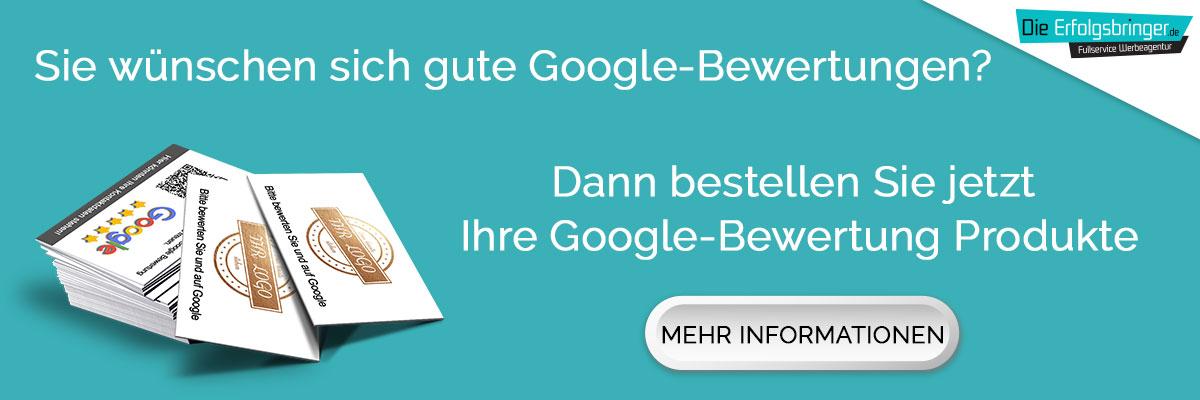 Google-Bewertung Produkte bestellen