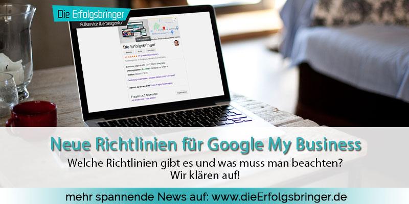 Neue Richtlinien für Google My Business Einträge Titelbild