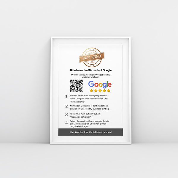 Google Bewertungsposter