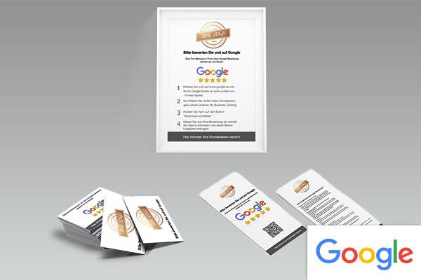 Auswahl an Google bewertungsprodukten